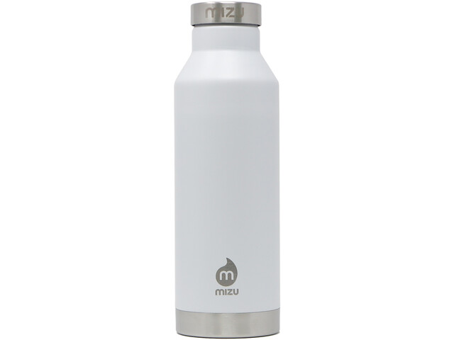 MIZU V6 Botella con Aislamiento con Tapa Acero Inoxidable 600ml, enduro white